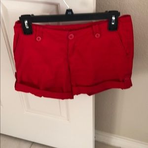 Delia's shorts in red